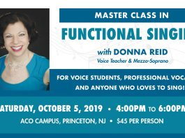 Master Class in Functional Singing with Donna Reid, Voice Teacher & Mezzo-Soprano.