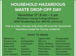 MiddlesexCounty 2019Household Hazardous Waste Drop-Off