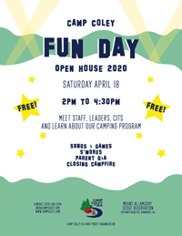 Camp COLEY Fun Day Open House