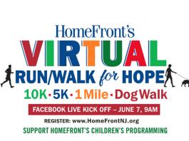 HomeFront VIRTUAL Run / Walk / Dog Walk for Hope - 10K, 5K, 1 mile, dog walk