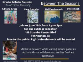 Between The Seasons - A four artist show Outdoor reception