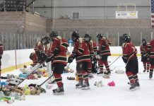 PHOTO COURTESY OF HILLSBOROUGH HIGH SCHOOL ICE HOCKEY TEAM