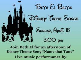 """Beth El Synagogue Presents """"Beth El Belts Disney Theme Songs"""""""