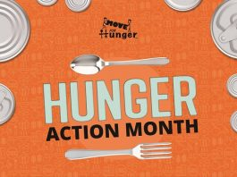 Hunger Action Month Food Drive at Mazza Recycling