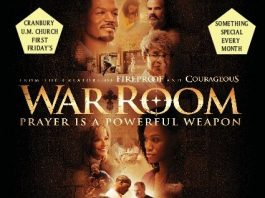 First Friday: Pizza and a Movie (War Room)